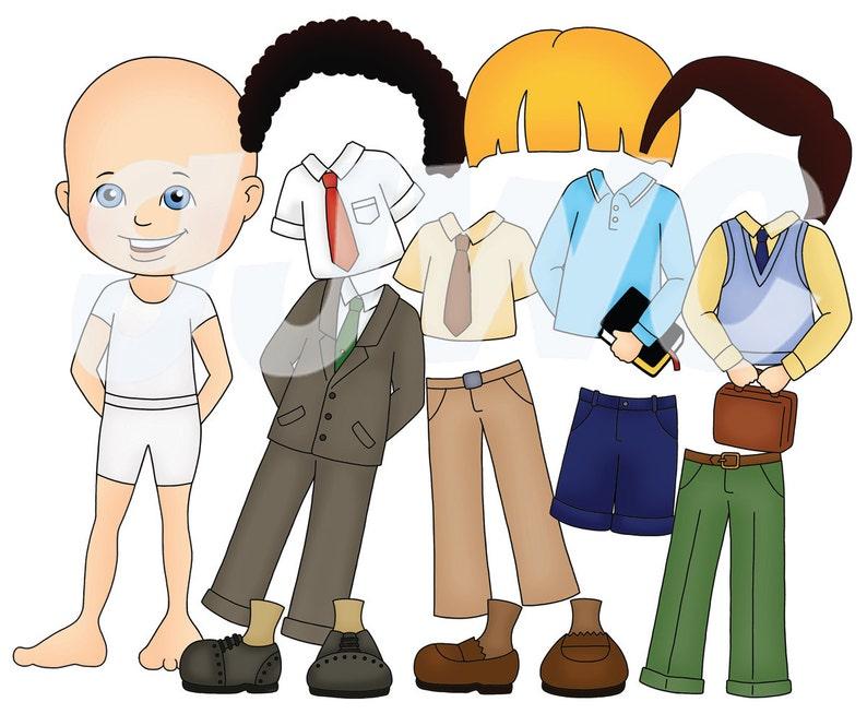 Boy DRESS UP  Children's File Folder Game  Downloadable image 0