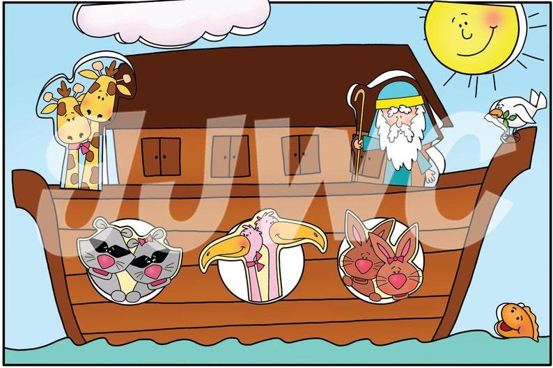 NOAH'S ARK Children's File Folder Game  Downloadable image 0