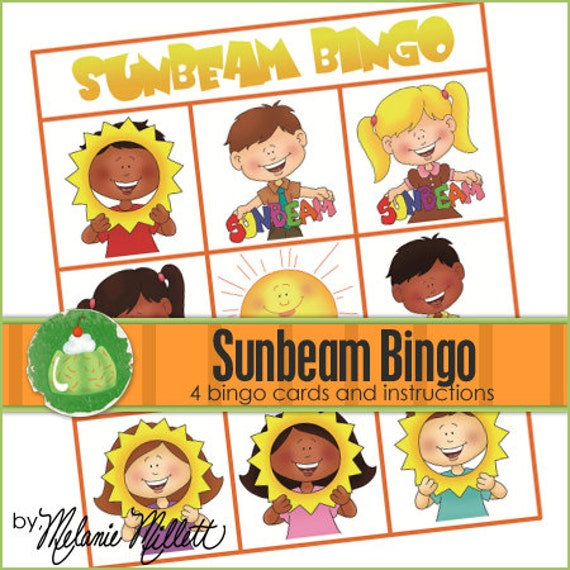 SUNBEAM BINGO - Downloadable PDF Only