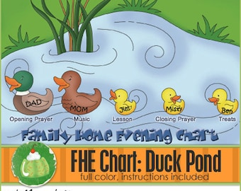FAMILY HOME EVENING Chart - Duck Pond - Downloadable File