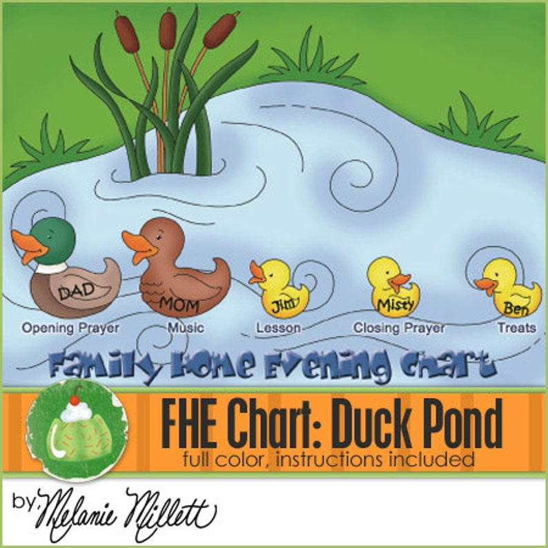 FAMILY HOME EVENING Chart  Duck Pond  Downloadable File image 0