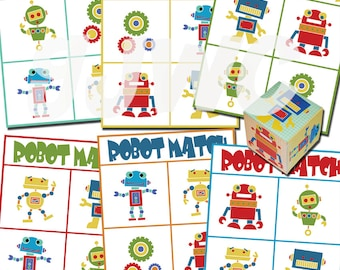 ROBOT MATCH Game - Downloadable PDF Only