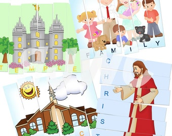 4 GOSPEL PUZZLE Strips Game - Downloadable PDF Only