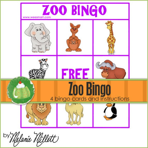 ZOO AnimalsMatch BINGO - Downloadable PDF Only