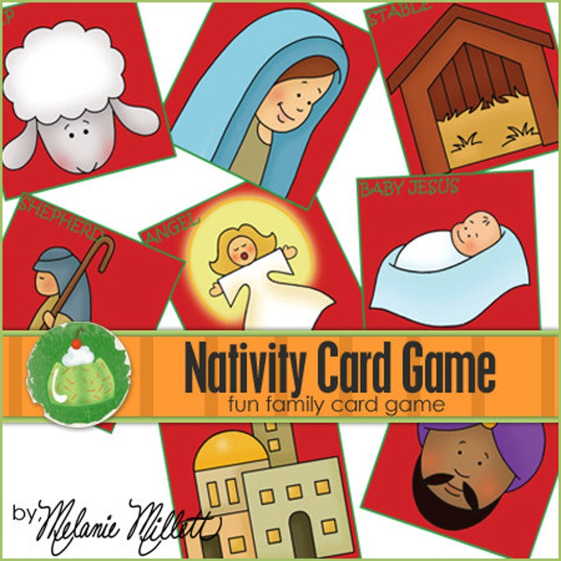 NATIVITY Match Card Game  Downloadable PDF Only image 0