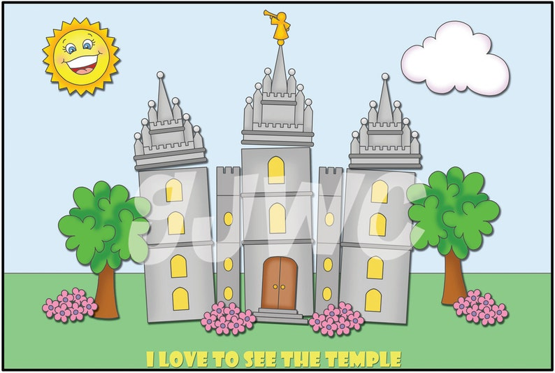 I LOVE to see the TEMPLE Children's File Folder Game  image 0