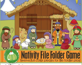 NATIVITY File Folder Game - Downloadable PDF Only