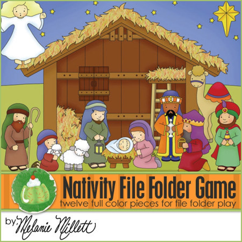 NATIVITY File Folder Game  Downloadable PDF Only image 0