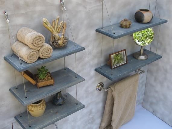 Badkamer planken zwevende planken industriële planken etsy