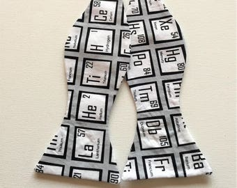 Chemistry Bow Tie: Chemistry, Chemist, Periodic Table, Elements, Science, Scientist, Physics, Biology, Shades of Gray, geek, nerd, STEM