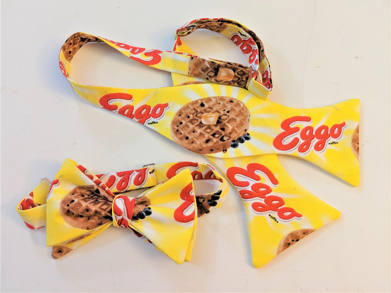 MvZDesigns MvZ Self Tie or Pre-Tied Breakfast anyone? Stranger Things Friends don/'t Lie Toaster Waffles Gift Let Go My EGGO Bow Ties