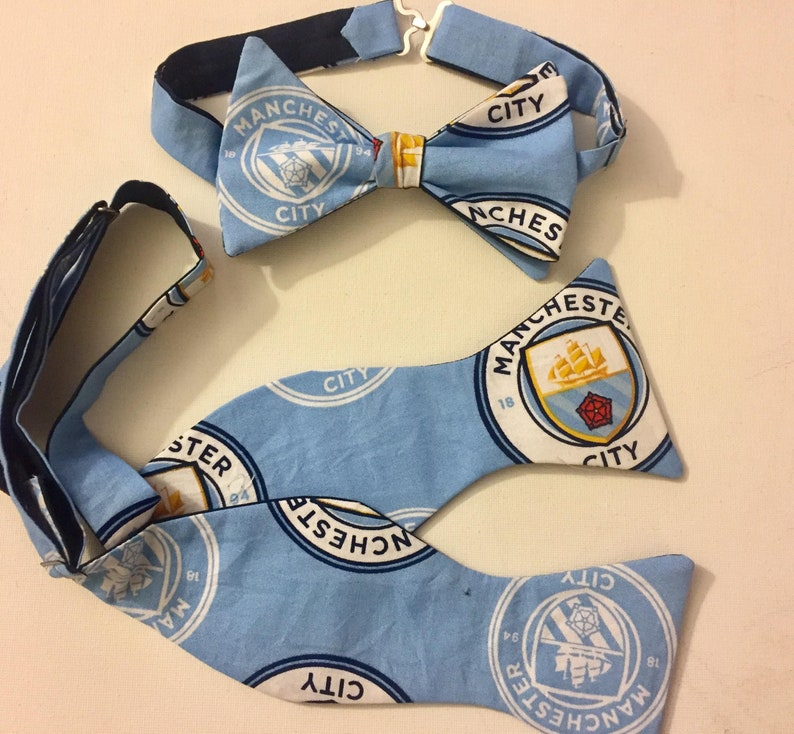 EU Football Manchester City Bow Ties: Self Or Pre Tied. | Etsy