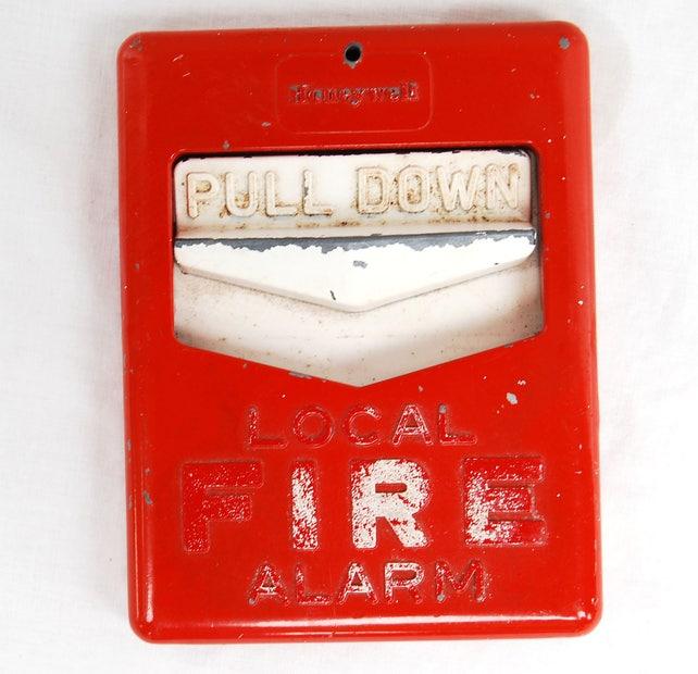 Vintage Metal Honeywell Fire Alarm Pull Station Retro Etsy
