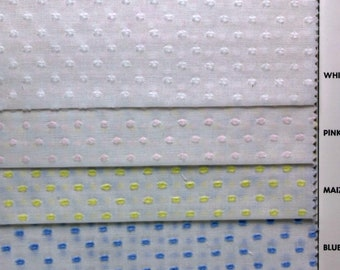 """Old Fashioned Woven Dotted Swiss ,White/White-60"""" White/Blue-60"""" White/Pink-60"""" BTY"""