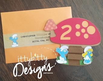 The Smurfs Birthday Invitation