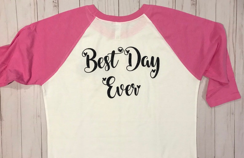 Disney Shirt Girl/'s Disney Best Day Ever Shirt Disney Raglan Disney Monogram Disney Tee Castle Shirt Minnie Mouse