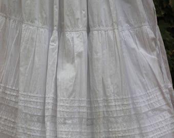 SKIRT - Lace RUFFLE, beautiful antique petticoat