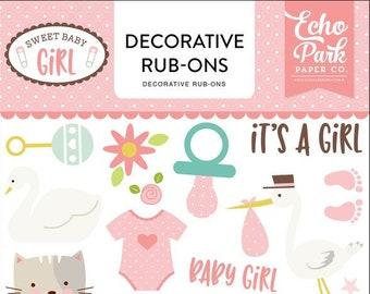 Echo Park Paper Company Sweet Baby Girl Rub Ons