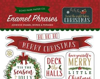 Echo Park Enamel Shapes - Twas The Night Before Christmas