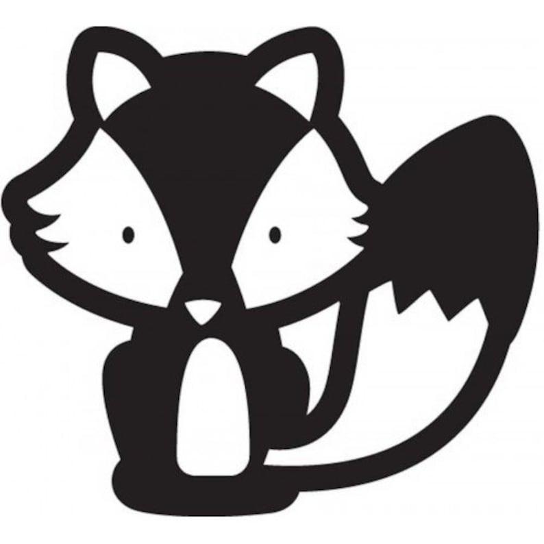 JIllibean Soup 2x2 Cute Fox Wood Stamp