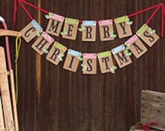Merry Christmas Banner Kit