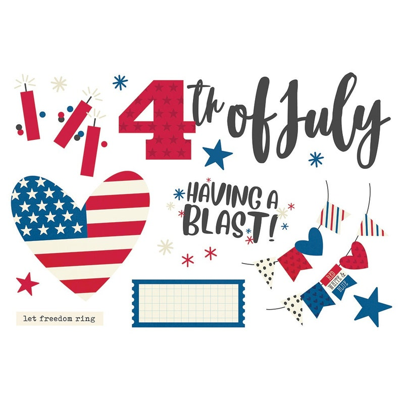 4th of July Simple Stories Page Pieces