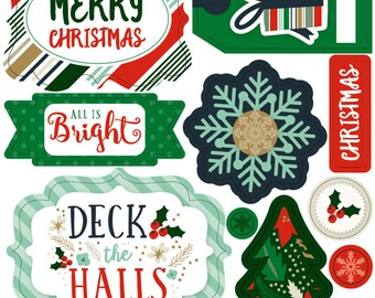 Echo Park Layered Stickers - Deck the Halls