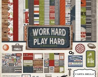 Carta Bella Work Hard Play Hard Collection Kit