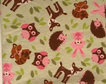 XL Receiving Blanket- Woodland Creatures