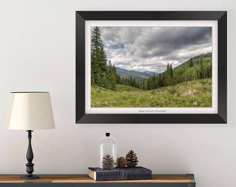 Colorado Photography - Nature Photography Prints - Landscape Print - Mountain Print - Bedroom Wall Art