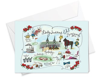 Derby Traditions Decorative Map Card