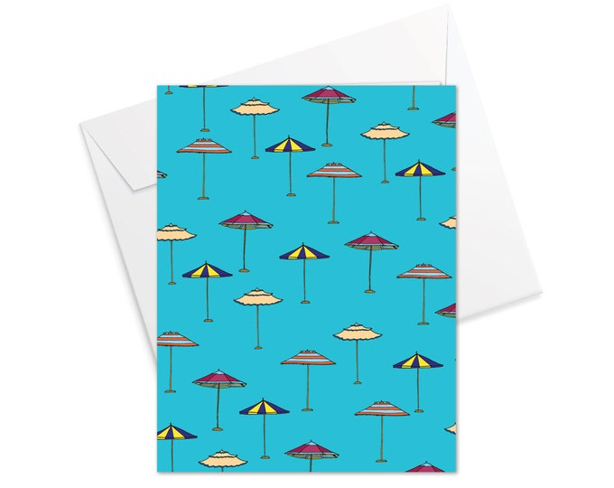 Sun-brella Fold Over Note Cards