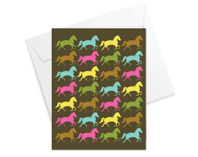 Horses Fold Over Note Cards