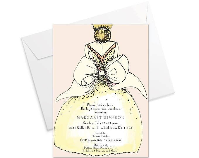 Bride's Bow Invitation