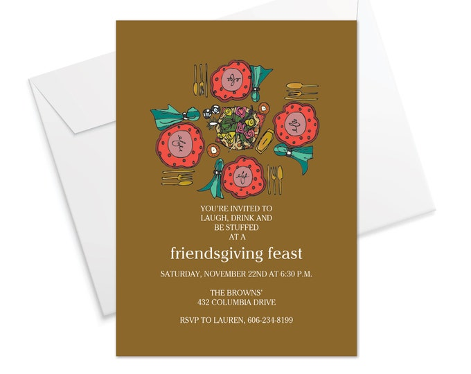 Friendsgiving Table Invitation