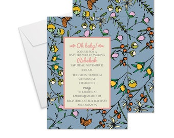 Betty Baby Shower Invitation - Pink or Blue