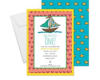 Sailing On Birthday Invitation