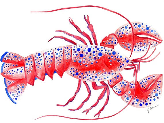 Lobster Watercolor