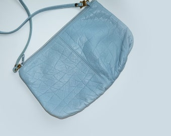 Vintage Light Blue Crossbody Purse