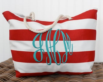 monogram beach bag etsy