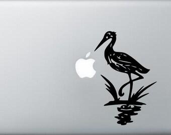 Blue Heron bird decal for laptop macbook ipad car window vinyl decal
