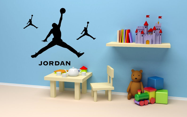 quality design de6b3 edcf4 Michael Jordan wall decal Basketball Wall Art Decals 3 pieces   Etsy
