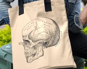 Skull Design Tote Bag Long Handles TB1011