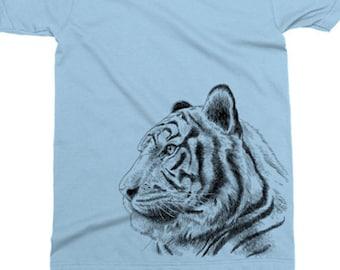 15d6e904 Tiger Tshirt, Printed On American Apparel, Jungle Cat, Tiger T Shirt, Wild  Animal Tee, Mens Womens Kids Baby