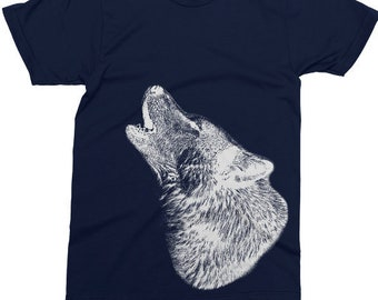 The Mountain Kids 100/% Cotton T-Shirt Youth Tee Two White Graceful Wolves Tee XL