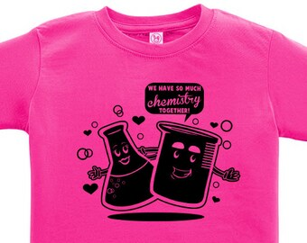 CLEARANCE, Kids Clothing, Kids Shirt, Toddler, Funny T Shirt, Chemistry Tshirt, Geeky Science Tee, Geek, Youth,