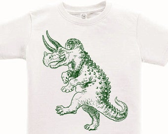 77841ac20 CLEARANCE, Kids Clothing, Toddler, Dancing Triceratops Tshirt, Dinosaur T  Shirt, Funny Tee, Youth,