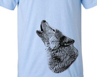 CLEARANCE, Howling Wolf Tshirt, Wolf T Shirt, Wildlife, Wild Animal Tee,  sm-5xl plus size