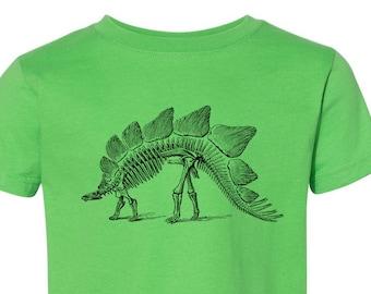 0614b5fc8 CLEARANCE, Kids Clothing, Toddler, Dinosaur Tshirt, Stegosaurus T Shirt, Dinosaur  Skeleton Tee, Youth,