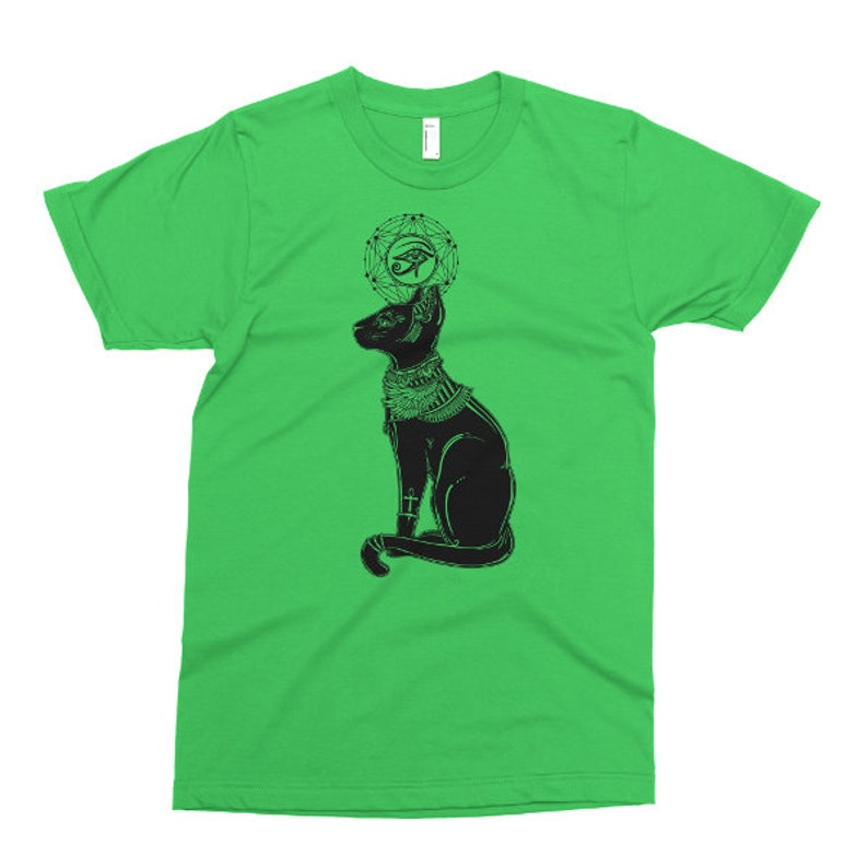 Printed On American Apparel Tshirt Eye Of Horus Tee Mens Womens Kids Baby Bastet Goddess T Shirt Ancient Egyptian Cat One Piece